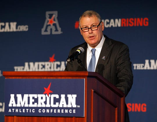 American Athletic Conference Commissioner Mike Aresco, shown in 2015.