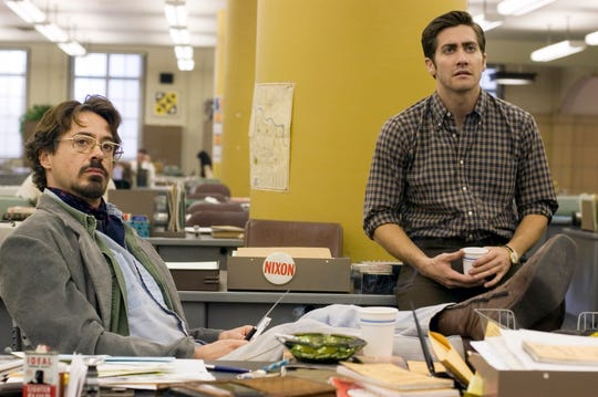 "Future superheroes Robert Downey Jr. (left) and Jake Gyllenhaal in 2007's ""Zodiac."""