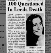 Cynthia Leeds, pictured in a clipping in the Asbury Park Press the year of her death.