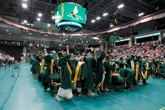 Photos from the Vestal 2019 graduation, held at the BU Events Center on June 29, 2019.