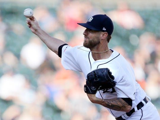 Detroit Tigers' Shane Greene pitches against the Washington Nationals during the ninth inning Saturday, June 29, 2019, in Detroit. Greene recorded his 22nd save in the team's 7-5 win.