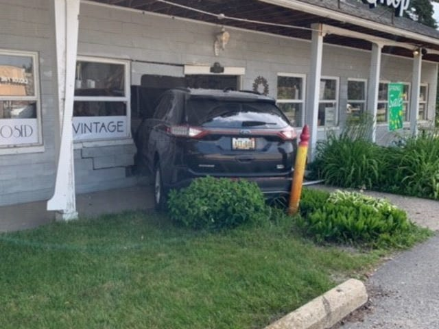 A car struck Brose Electric Shop on June 28.