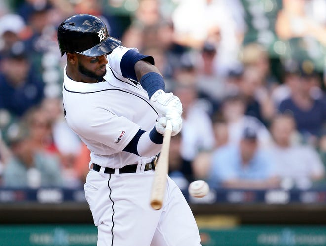 Tigers' Niko Goodrum singled home the winning run in Saturday's 7-5 victory over the Nationals.