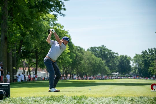 Petoskey's Joey Garber at last year's Rocket Mortgage Classic.