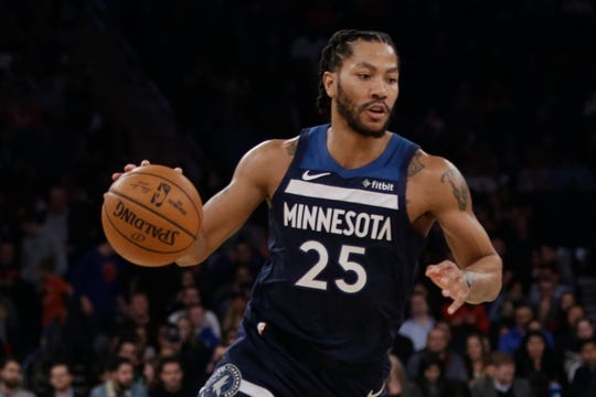 Derrick Rose averaged 18 points this past season with the Timberwolves.