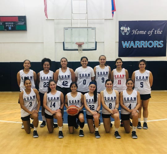 Members of the Guam Women's National Basketball Team at the Saint Paul Christian School Gym.