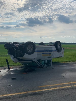 The driver of this pickup truck escaped life-threatening injuries in a fatal accident on U.S. 421 in Carroll County about 4:15 p.m. Friday.