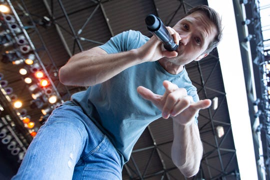 Walker Hayes gets up close and personal during his show at Summerfest's Miller Lite Oasis Saturday night.