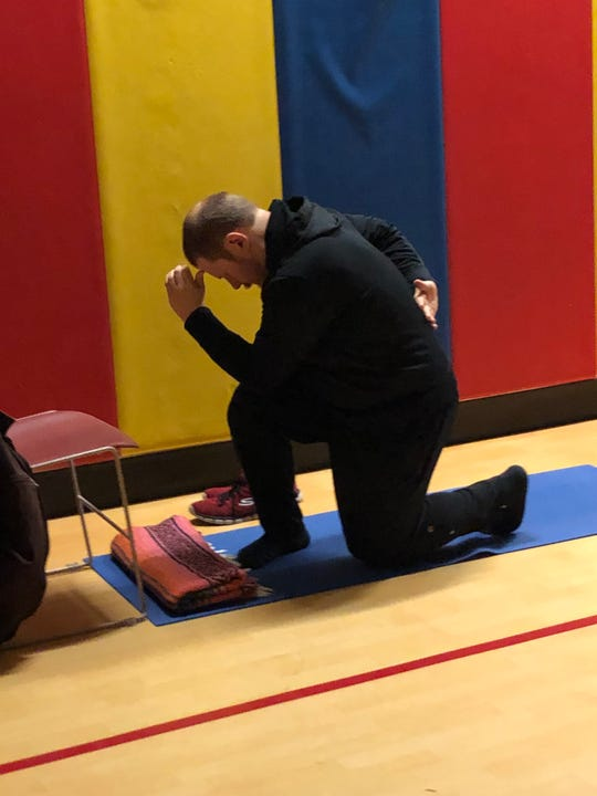 "Padraich ""Drake"" Spence practices Chaverim yoga."