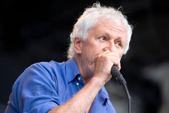 Singer Robert Pollard led Guided By Voices on Sunday at Summerfest's Miller Lite Oasis.