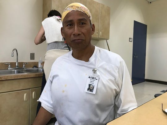 Eagle Ramsey, 57, has been volunteering at St. Vincent de Paul for about 3 years. He's pictured here at the Human Services Campus at 1075 W. Jackson St. on June 29, 2019.