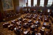 Senators meet on the last day of the 2019 legislative session on June 30, 2019.