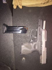Oxnard police said officers found a gun when Oxnard police contacted a man sitting in his car on Saturday night.