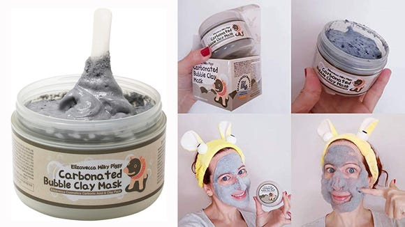 This mask foams up after you apply it.