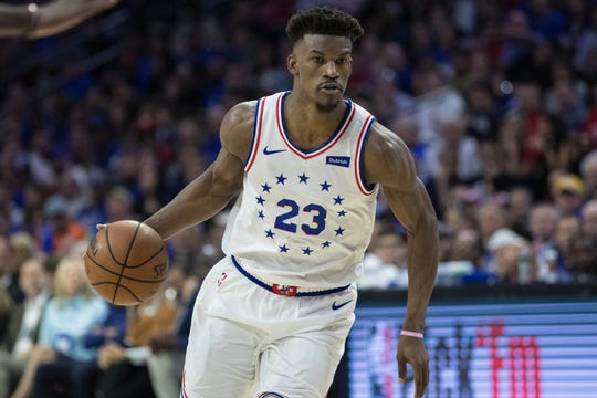 Philadelphia 76ers guard Jimmy Butler