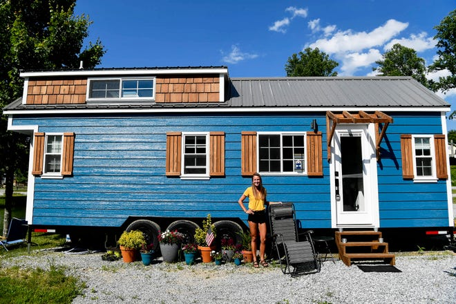 Jacki Cronin and her tiny home in Hendersonville May 28, 2019.