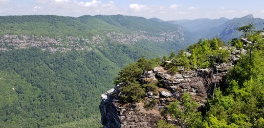 View of Linville Gorge from Shortoff Mountain