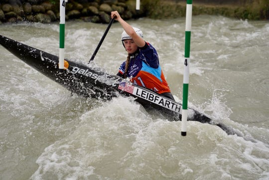 Evy Leibfarth, 15, of Bryson City, earned bronze in women's canoe at the ICF Slalom Canoe June 30 on the Sava River in Tacen, Ljubljana, in Slovenia.