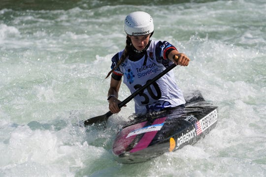 Evy Leibfarth of Bryson City earned bronze at the ICF Slalom Canoe World Cup No. 3 June 30 in Slovenia.