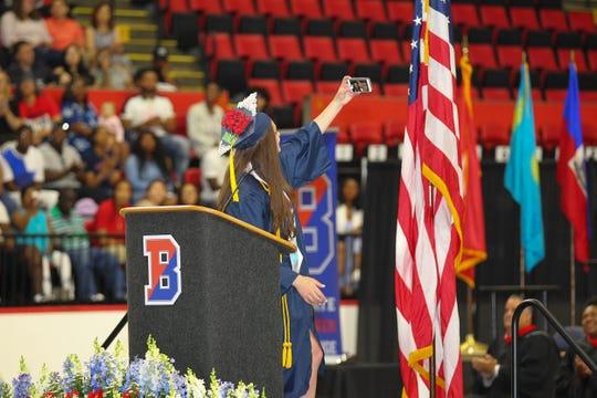 Binghamton High School's graduation was held at the Floyd L. Maines Veterans Memorial Arena on June 30, 2019.