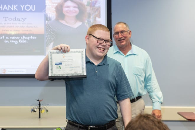 Eight students recently graduated from Health First's Project SEARCH program. Project SEARCH is a vocational training and employment program that matches the abilities of people with disabilities to real jobs, and then provides support and training needed for both the employee and employer, at no cost.