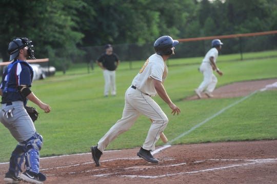 Galion's Sean McLaughlin takes off to first base following a hit.