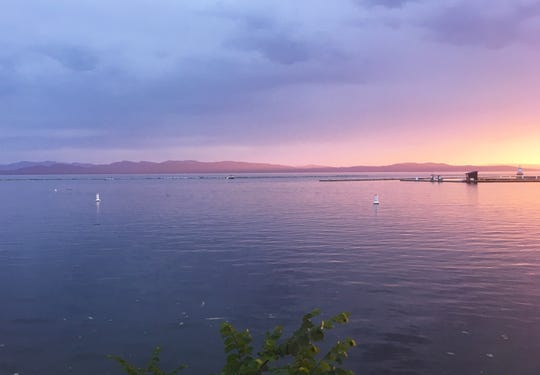 The sun sets on Burlington Bay, June 28, 2019.