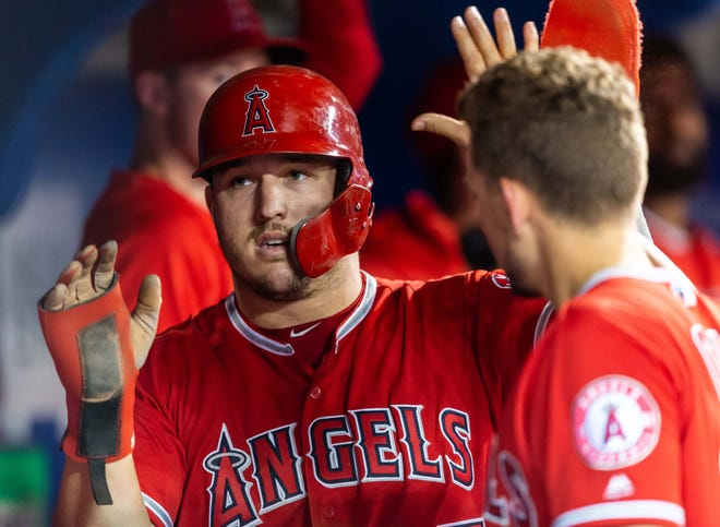 Los Angeles Angels center fielder Mike Trout will be playing at Citizens Bank Park next July against the Phillies.