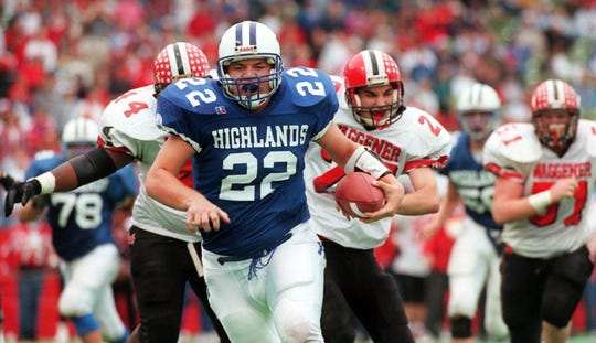 Dec. 5, 1998: Highland High School quarterback, No. 22, Jared Lorenzen headed in for his first touchdown of the day during the Class AAA Kentucky State Championship game with Waggener H.S.