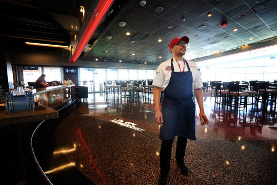 Executive Chef Gary Davis stands inside of The Handlebar at The Riverfront Club at Great American Ball Park on Friday, June 28.