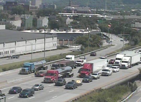 A crash blocked lanes on Interstate 75 Monday.