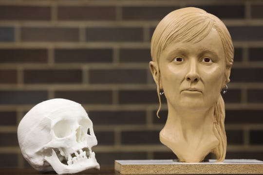 The bust was created using remains found from a Jane Doe found last year. It was created in the hope to find out who she was.