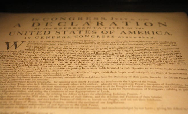 One of the 25 known survivors from the original copies made upon the Declaration's approval on July 4, 1776, on display at the Cincinnati Museum Center in 2010.