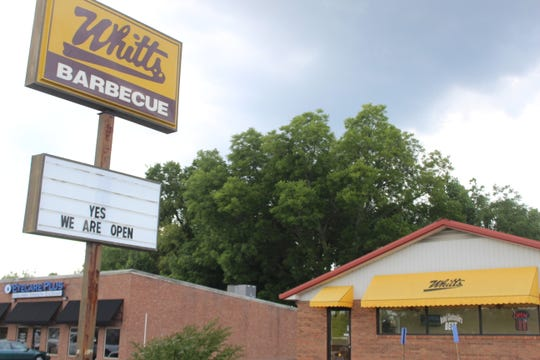The Whitt's Barbecue on Wilma Rudolph Boulevard in Clarksville reopened Monday, three months after it closed when its former owners were killed in a car crash.