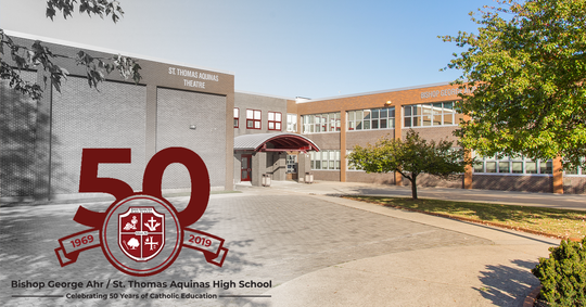 Bishop Ahr has changed its name back to St. Thomas Aquinas High School, its original moniker