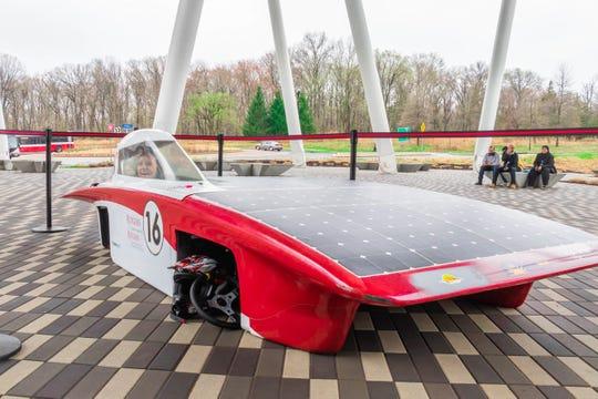 The Rutgers Solar car.
