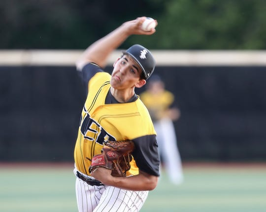 Southeast Polk's  Jaco Allison delivers a pitch during a June 24 game against Marshalltown at Southeast Polk High School.