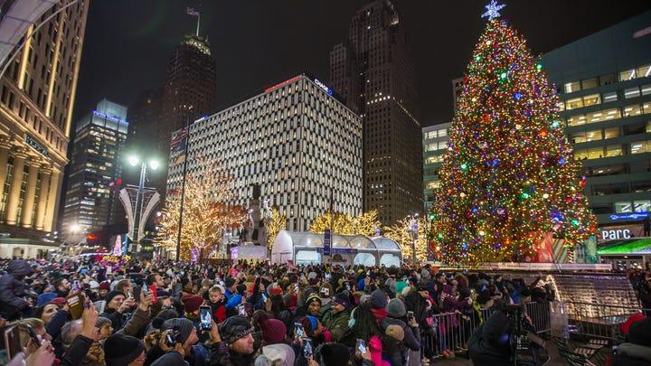 Detroit Christmas Tree Lighting 2019 Detroit Free Press