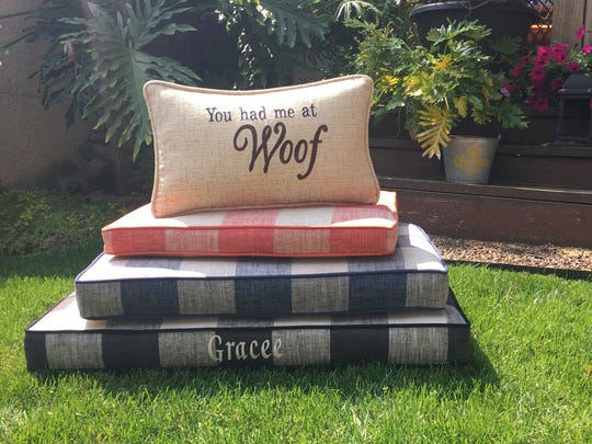 With so many options in performance fabric, look to upholster your own dog bed that matches your home style!