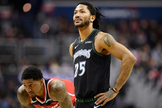Minnesota Timberwolves guard Derrick Rose