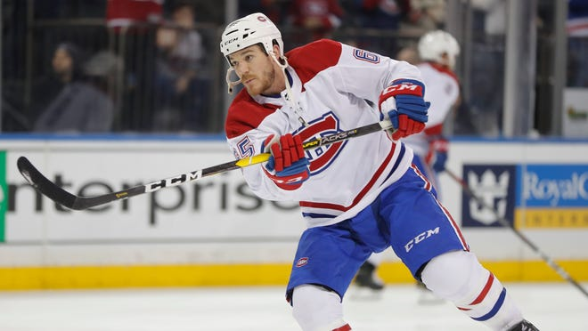 Canadiens right wing Andrew Shaw