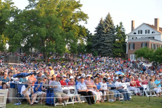 "The audience at last year's ""Salute to America"" at Greenfield Village."