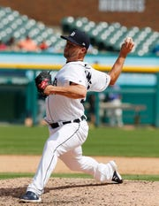 Tigers reliever Austin Adams has pitched four straight scoreless outings.