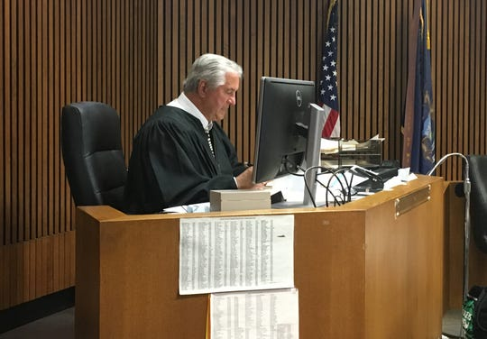 Wayne County Circuit Court Judge James R. Chylinski hears expungement appeals.