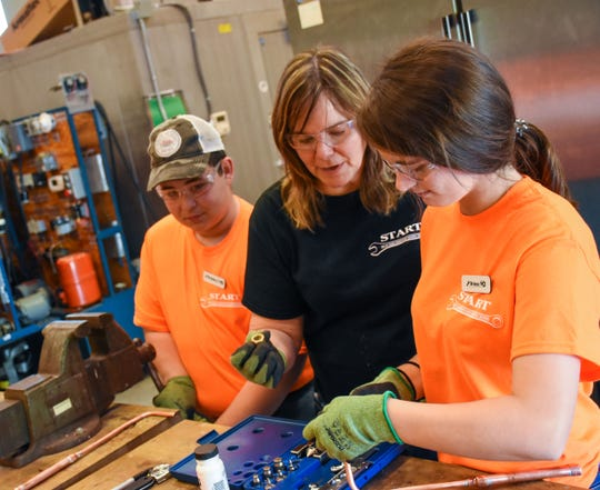 High school students from Fremont and surrounding areas got free hands-on training in skilled trades at Terra State Community College