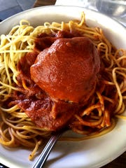 A kid's-sized portion of spaghetti and meatballs from The Saucy Meatball in Gateway.