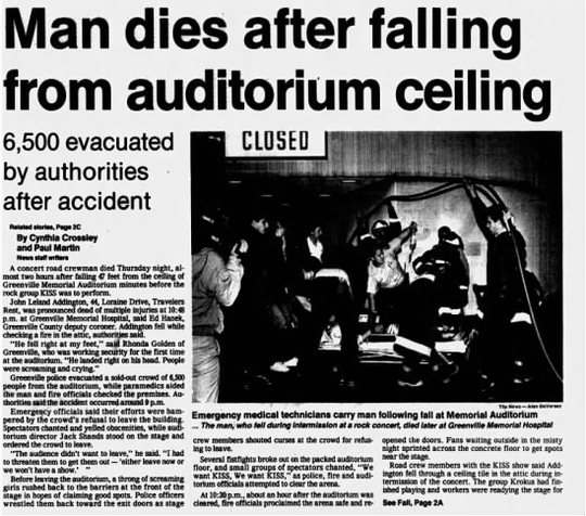 Screenshot of the front page of The Greenville News on Jan. 4, 1985.