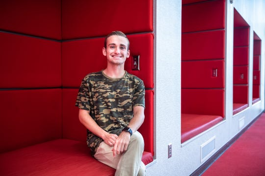 """Cole Bryant, 19, a Clemson bridge student. """"You can't be blindly loyal to your country. You have to stand up and point out the flaws. If you want real change to happen you have to stand up and be willing to say, 'I'm not going to stand for this.' I can be as patriotic as I want but that doesn't mean I agree with you or agree with this administration,"""" said Bryant."""