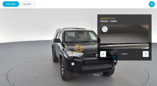 Screenshot of 2016 Toyota 4Runner.