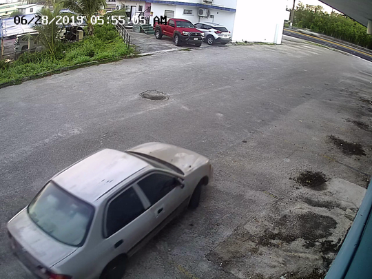 Surveillance from Megabyte shows the car that was used by a man who burglarized the store on June 28.